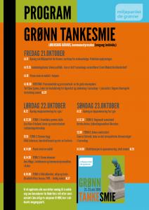 Seminarprogram: Grønn Tankesmie 21.-23.oktober 2016